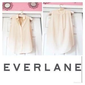 EVERLANE | Silk Blush Sleeveless Blouse Top Tank